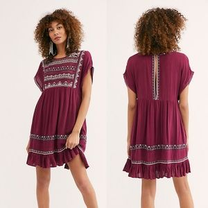 NWT Free People Sunrise Waderer Mini Dress